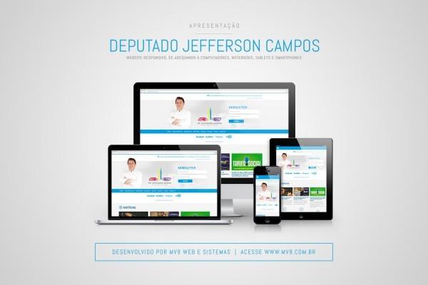Criação e Desenvolvimento de Site Responsivo para Deputado Pr. Jefferson Campos
