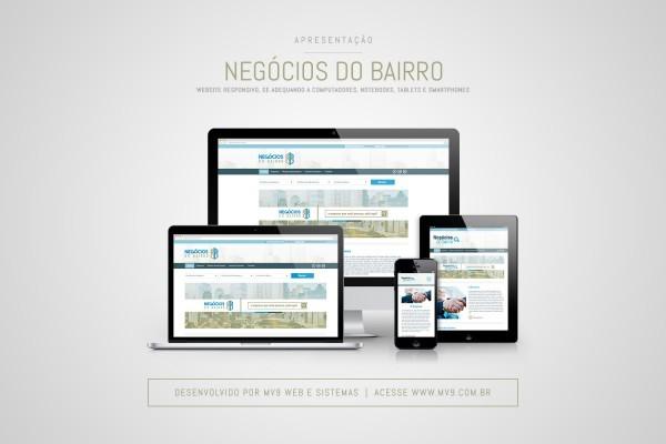 Criação do website para a empresa Negócios do Bairro