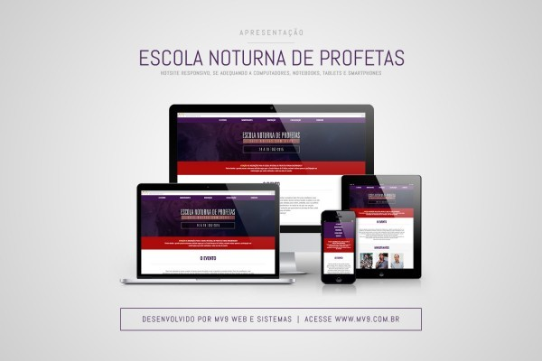 Criação de Hotsite Responsivo para Escola Noturna de Profetas