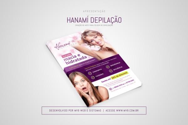 Criação de Folder para a Hanamí Depilação