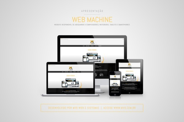 Desenvolvimento de One Page para a Web Machine