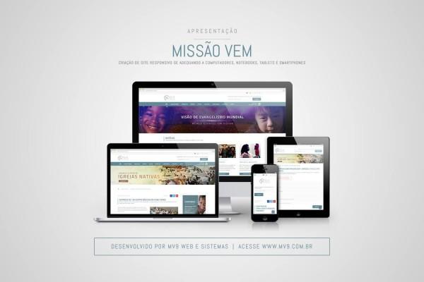 Criação de Site Responsivo para a Missão VEM