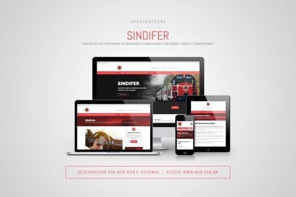 Criação de Site Responsivo para SINDIFER - Sindicato dos Trabalhadores em Empresas Ferroviárias