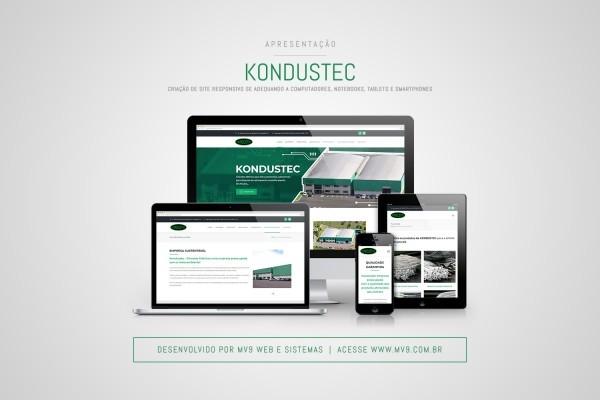 Criação de site responsivo para Kondustec - Chicotes Elétricos
