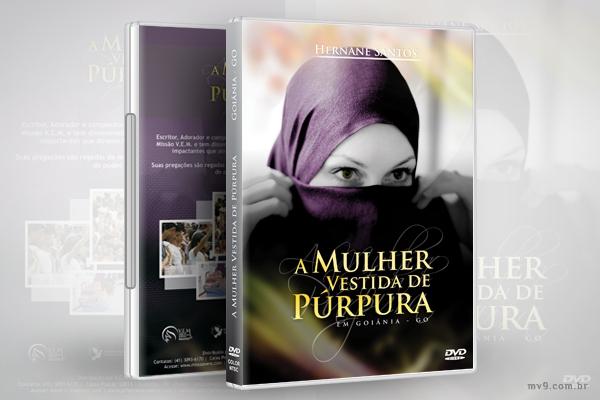 Criação de arte para capa DVD A Mulher Vestida de Púrpura