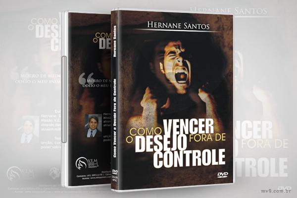 Criação de arte para capa DVD Como Vencer o Desejo Fora de Controle