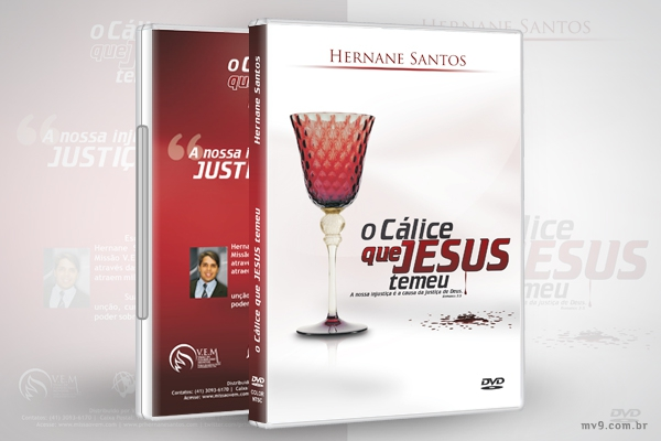 Criação de arte para capa DVD O Cálice que Jesus Temeu