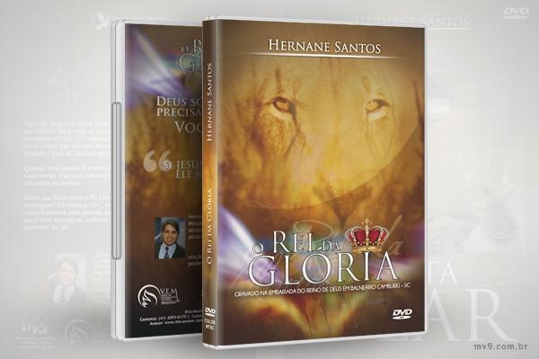 Criação de arte para capa DVD  Rei da Glória