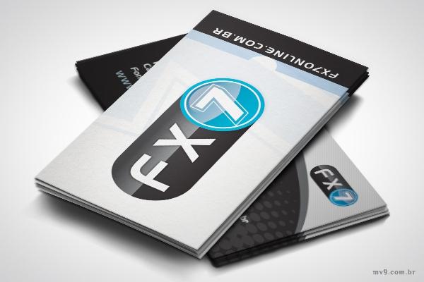 Criação de cartão de visita para FX7 Online