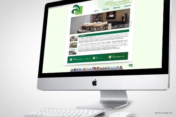 Desenvolvimento de website para Abittare Móveis Planejados