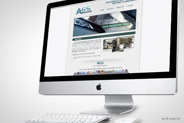 Desenvolvimento de website para AGS Móveis Planejados