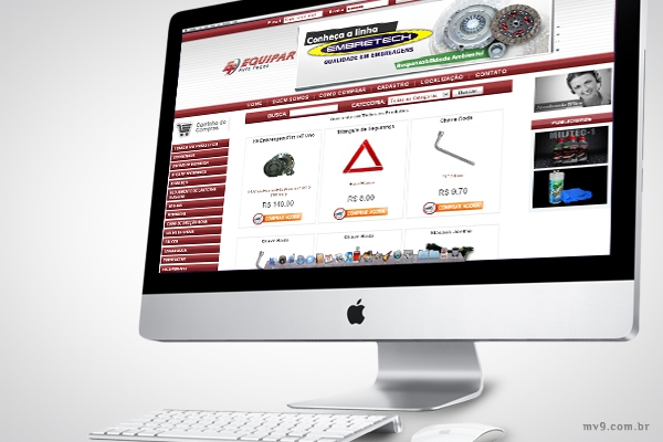 Desenvolvimento de loja virtual com SEO para Equipar Auto Peças