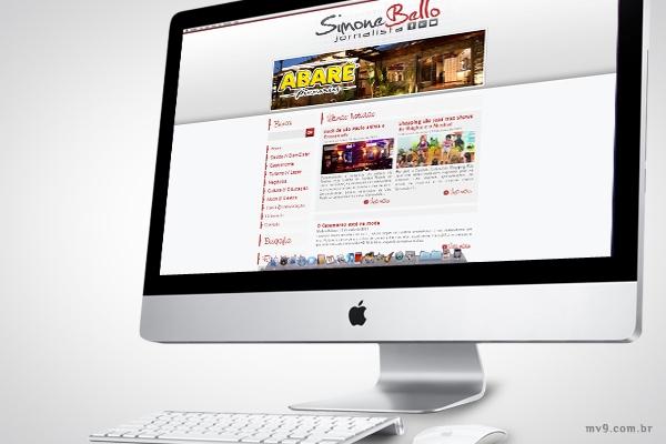 Desenvolvimento de website com SEO para Simone Bello
