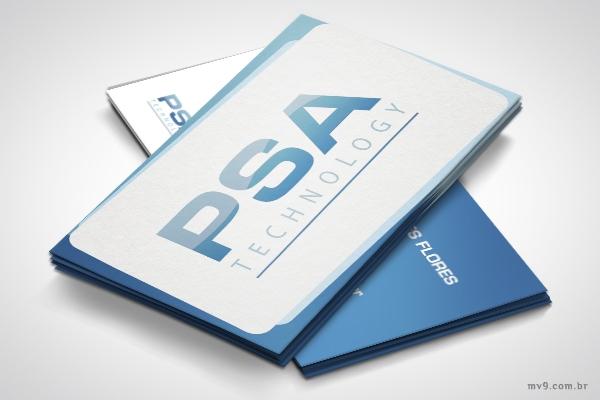 Criação de cartão de visita para a PSA Technology