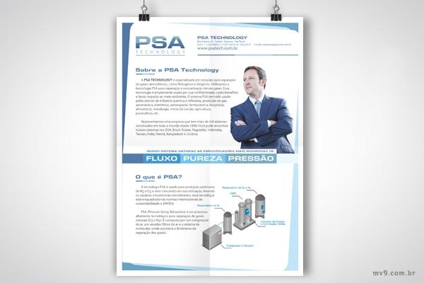 Criação de flyer para a PSA Technology