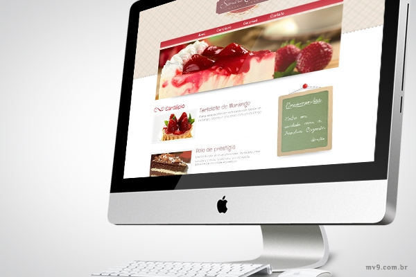 Desenvolvimento de website para Sandra Cazarin - Doces Finos