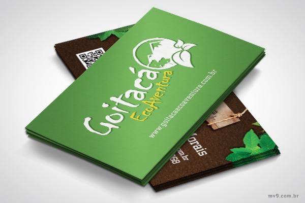 Criação de cartão de visita para a Goitacá Ecoaventura