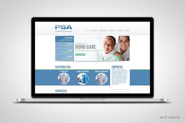 Desenvolvimento de website para PSA Technology