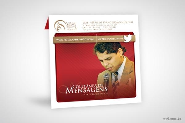 Criação de encarte para CD Coletânea de Mensagens